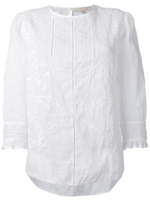Блузка с вышивкой Vanessa Bruno. Цвет: белый