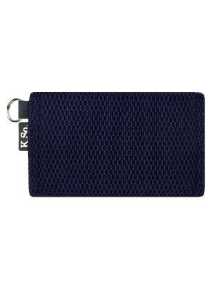Мини кошелек кардхолдер K.So.Six K.So.. Цвет: темно-синий
