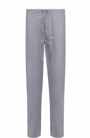 Домашние хлопковые брюки свободного кроя с поясом на резинке Zimmerli. Цвет: серый