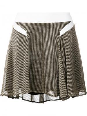 Асимметричная плиссированная юбка Esteban Cortazar. Цвет: металлический