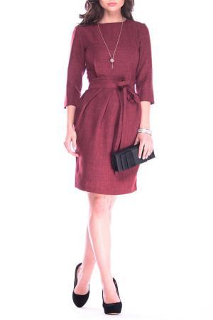 Офисное платье-футляр MAURINI. Цвет: светло-сливовый