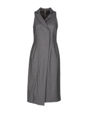 Платье до колена ALBINO. Цвет: серый