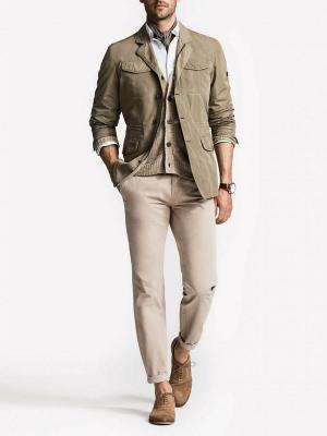 Куртка-пиджак Forecast. Цвет: оливковый