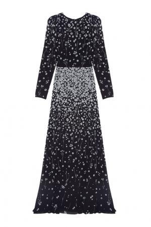 Шелковое платье Alexander Terekhov. Цвет: черный