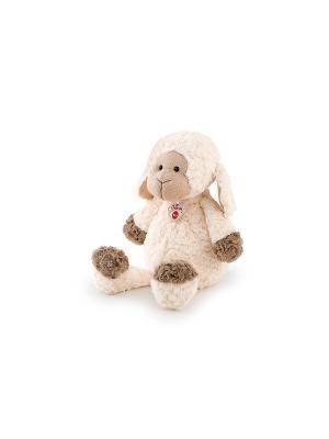 Мягкая игрушка Овечка с трикотажной вставкой, 36 сантиметров TRUDI. Цвет: бежевый