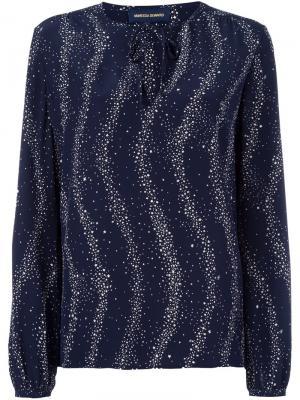 Блузка с принтом звезд Vanessa Seward. Цвет: синий