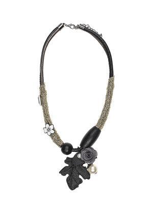 Колье Infiniti. Цвет: черный, белый, золотистый, серый