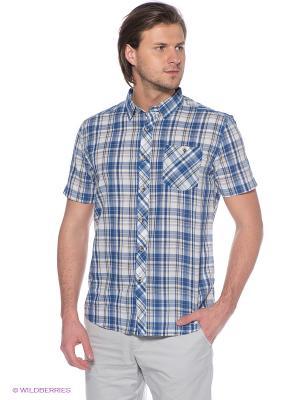 Рубашка Finn Flare. Цвет: голубой, светло-бежевый