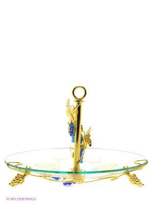 Ваза Marquis. Цвет: прозрачный, золотистый, синий