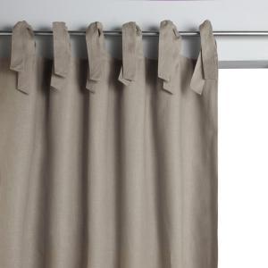 Штора классическая на подкладке с завязками, Colin AM.PM.. Цвет: антрацит,белый,пенно-белый,серо-бежевый