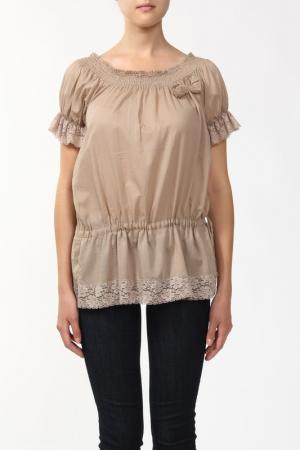 Блузка Sabra. Цвет: бежевый