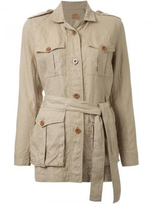 Куртка-сафари Fabiane Roux. Цвет: коричневый