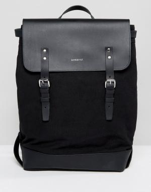 Sandqvist Черный рюкзак Hege. Цвет: черный