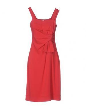 Платье до колена DIDIER PARAKIAN. Цвет: красный