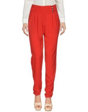 Повседневные брюки ALMAGORES. Цвет: красный