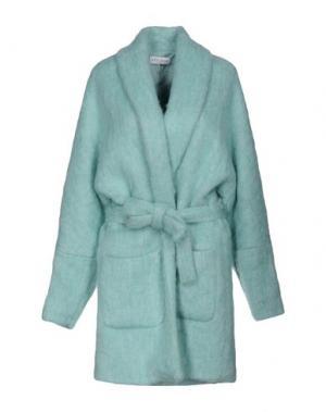 Пальто WEILI ZHENG. Цвет: небесно-голубой
