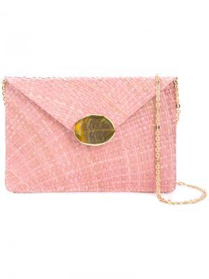 Декорированный клатч-конверт Kayu. Цвет: розовый и фиолетовый