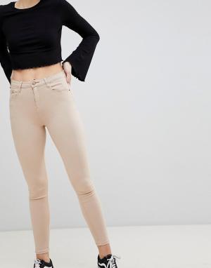 Glamorous Зауженные джинсы. Цвет: бежевый
