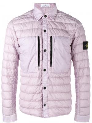 Дутая куртка Stone Island. Цвет: розовый и фиолетовый