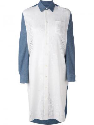 Удлиненная джинсовая рубашка Junya Watanabe Comme Des Garçons. Цвет: синий