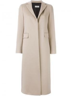 Однобортное пальто Alberto Biani. Цвет: телесный