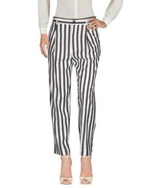 Повседневные брюки TELA. Цвет: стальной серый