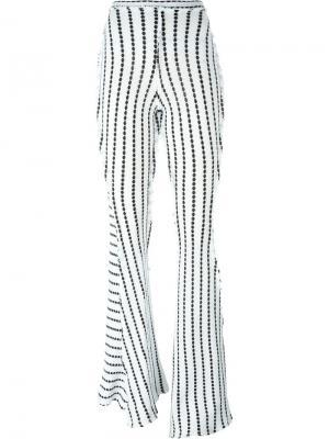 Контрастные брюки Richard Malone. Цвет: белый