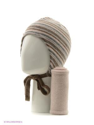 Шапка, шарф FOMAS. Цвет: кремовый
