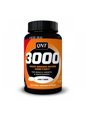 Аминокислоты QNT Amino Acid 3000 mg (100 таб). Цвет: черный
