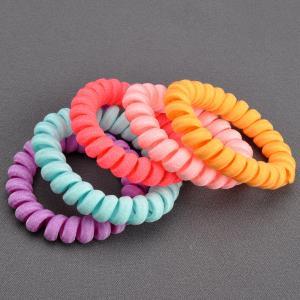 Комплект Резинок-Пружинок для волос 5 шт/уп, арт. РПВ-307 Бусики-Колечки. Цвет: разноцветный