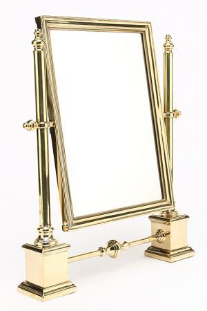 Зеркало настольное Stilars. Цвет: золотой