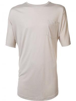 Удлиненная футболка Publish. Цвет: телесный