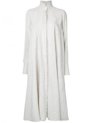 Длинное платье-рубашка Forme Dexpression D'expression. Цвет: белый