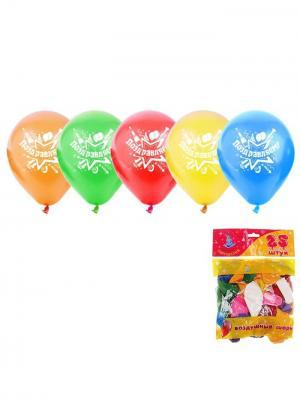 Набор воздушных шаров А М Дизайн. Цвет: светло-оранжевый, красный, лазурный, светло-желтый, светло-зеленый