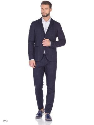 Пиджак Sisley. Цвет: синий, серый