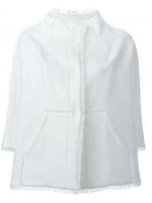 Пиджак с бахромой Gianluca Capannolo. Цвет: белый