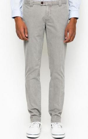 Серые зауженные брюки Cinque. Цвет: серый