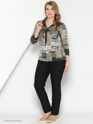 Блузка СТиКО. Цвет: серый, бежевый, коричневый