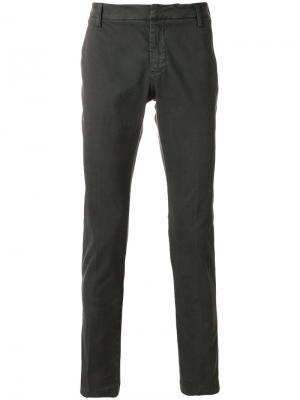Slim-fit trousers Entre Amis. Цвет: серый