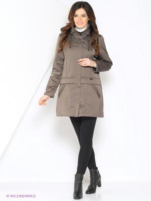 Куртка Maritta. Цвет: серо-коричневый