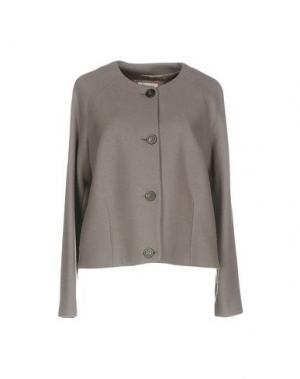 Пальто CAPPELLINI by PESERICO. Цвет: свинцово-серый
