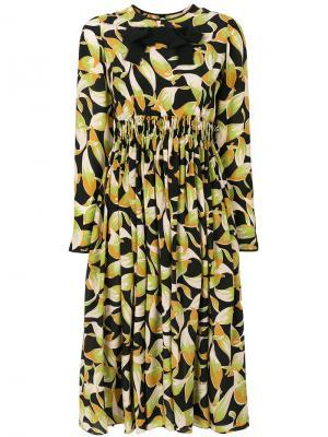 Платье с длинными рукавами и принтом Nº21. Цвет: многоцветный