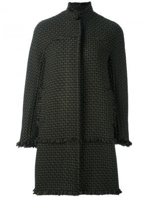 Пальто на молнии Gianluca Capannolo. Цвет: зелёный