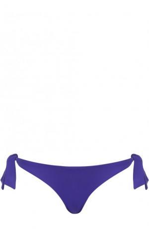 Однотонные плавки-бикини с бантами Ritratti Milano. Цвет: синий