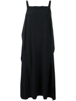 Свободное платье шифт Helmut Lang. Цвет: чёрный