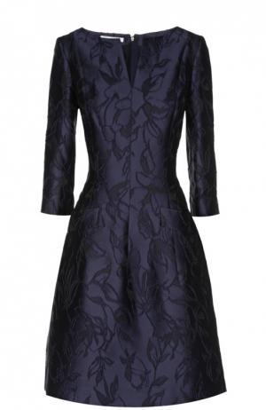 Платье Oscar de la Renta. Цвет: синий