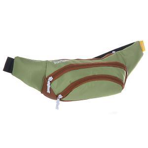 Сумка поясная  Wisst Bag F.bottom Pistachio/Brown TrueSpin. Цвет: коричневый,зеленый