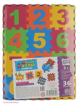 Пазлы с цифрами, 36 элементов Kribly Boo. Цвет: красный, оранжевый, желтый, синий, зеленый