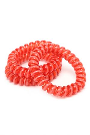 Яркий силиконовый резинка-браслет для волос MITYA VESELKOV. Цвет: красный, розовый