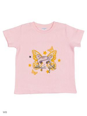 Футболка детская Orso Bianco. Цвет: розовый